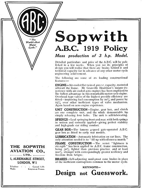 ABC Motor Cycles - ABC 3 hp Motor Cycle 1919