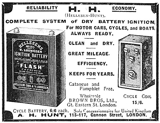 A.H.Hunt - HH Motor Cycle Accessories - H.H.Dry Battery