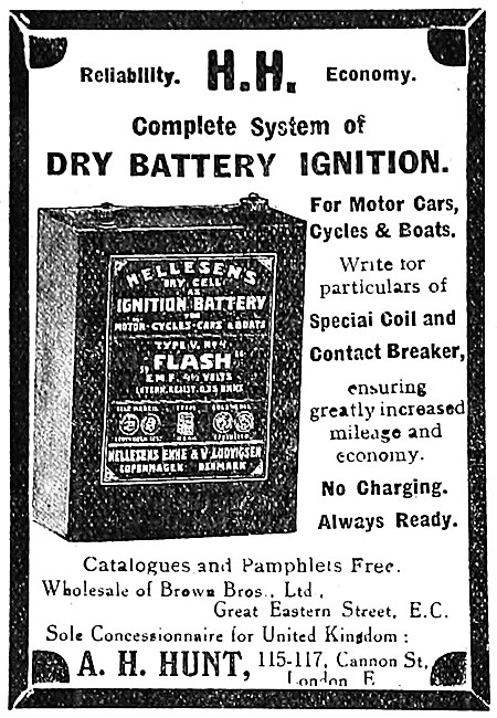 A.H.Hunt Dry Battery Motor Cycle Ignition System