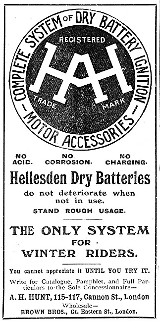 A.H.Hunt - Hellesden Dry Battery Ignition