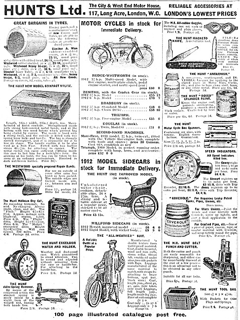A.H.Hunt - A.H Motor Cycle Accessories - Hunts Accessories