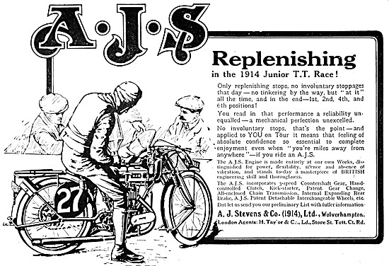 1919 AJS Motor Cycles - A.J.S.