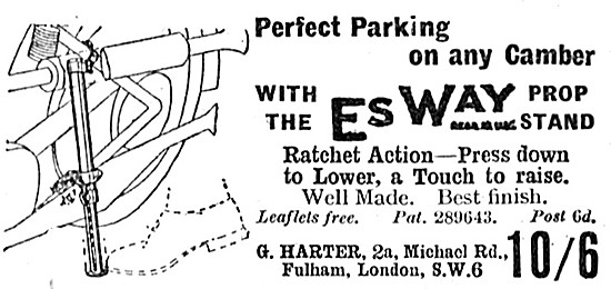 EsWay Motor Cycle Prop Stand 1939