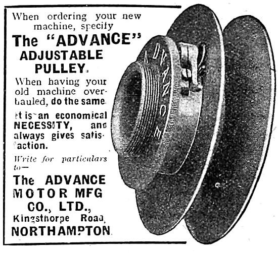 Advance Adjustable Pulley & Adjustable Belt Fastener 1909