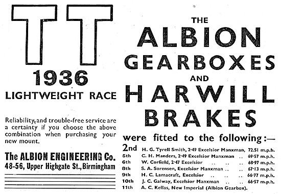 Albion Motorcycle Gearboxes - Harwill Brakes