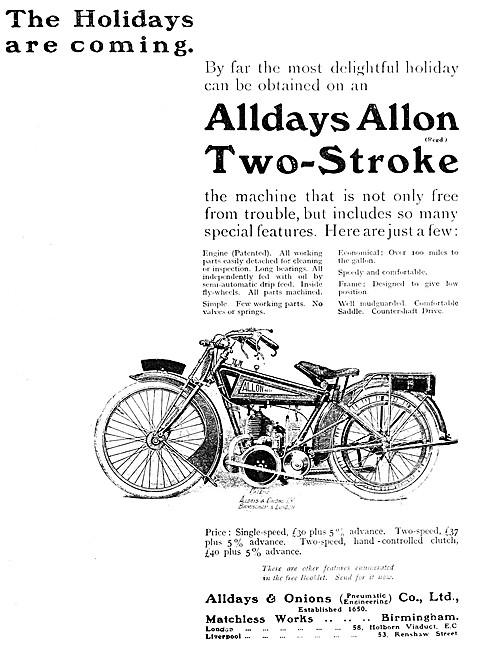 1915 Alldays Allon Motor Cycle