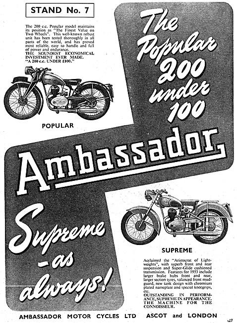 Ambassador Popular 200 cc - Ambassador Supreme