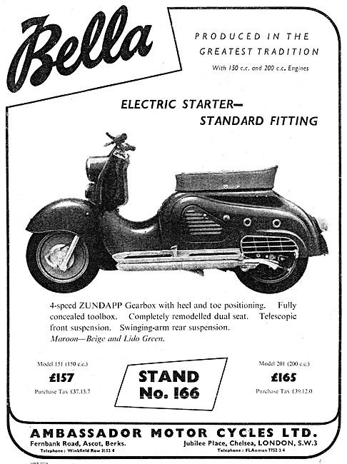 Ambassador Bella Motor Scooter 150 cc