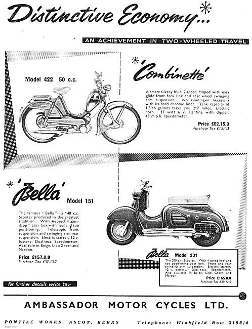Ambassador 442 50 cc - Ambassador Bella Motor Scooter 150 cc