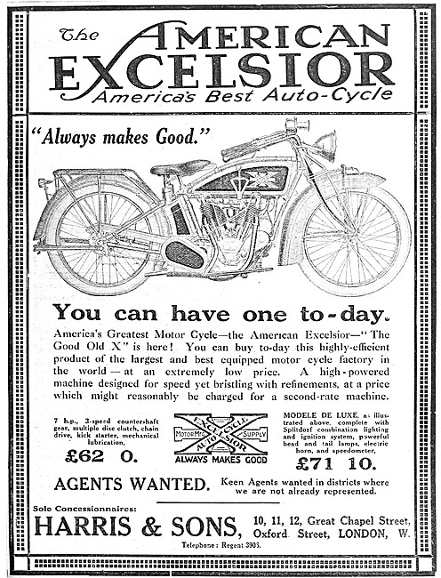 American Excelsior Big X Motor Cycle
