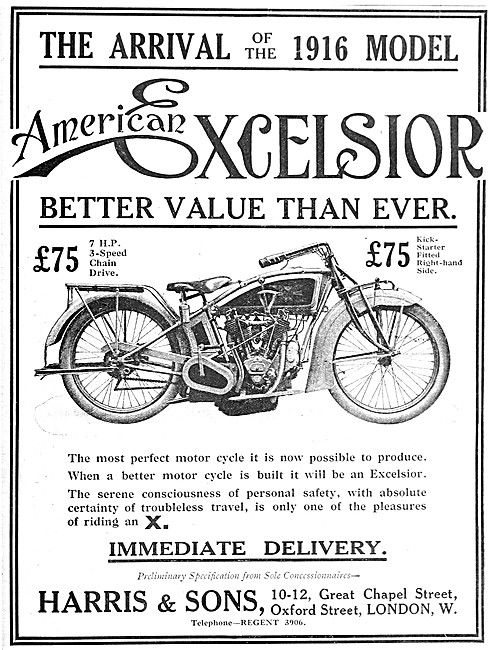 American Excelsior 7 hp V Twin  Motor Cycle