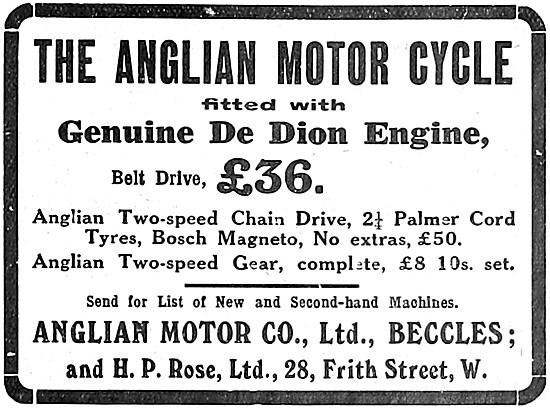 Anglian De Dion Motor Cycles