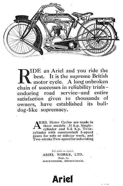 Ariel 3.5 hp Motor Cycle 1915
