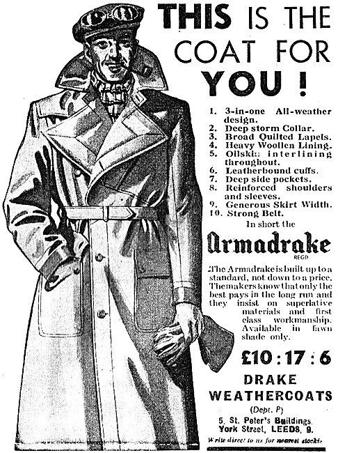 Armadrake All Weather Motor Cycle Clothing