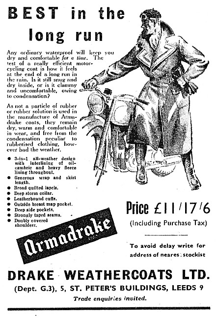 Armadrake Motor Cycle Suits