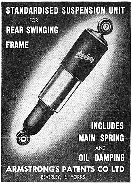 Armstrong Suspension Units - Armstrong Motor Cycle Dampers