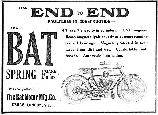 1908 BAT V Twin Motor Cycle