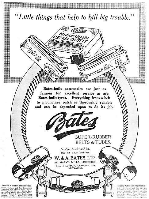 Bates Motor Cycle Tyres - Bates Puncture Repair Outfit