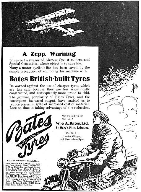 Bates Motor CycleTyres - Bates Tyres 1916