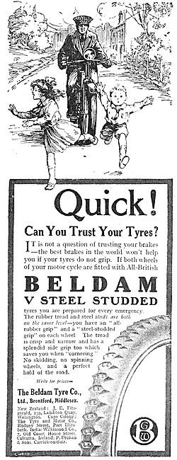 1917 Beldam Tyres