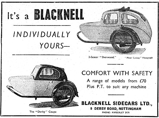 Blacknell Sherwood Sidecar  - Blacknell Derby Coupe Sidecar