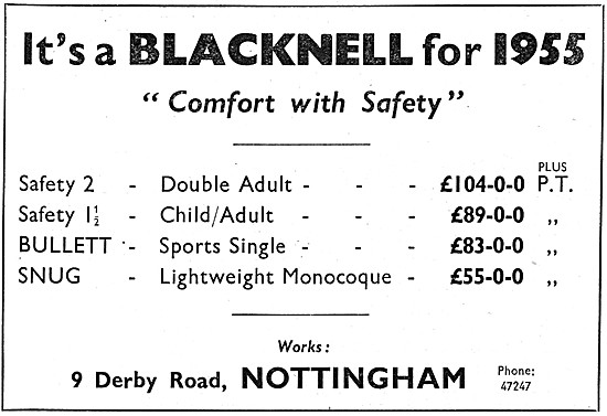 Blacknell Sidecar Range 1954
