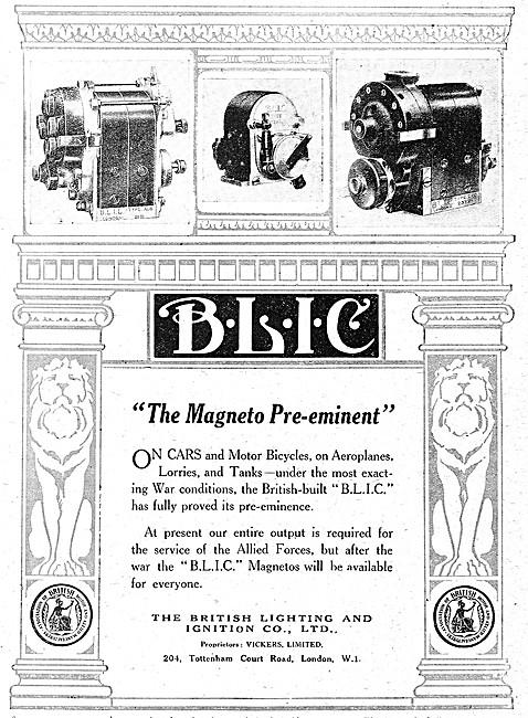 B.L.I.C. Magnetos - BLIC. Magnetos