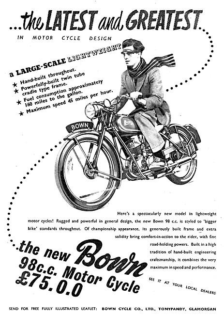 Bown 98 cc Motor Cycle 1951