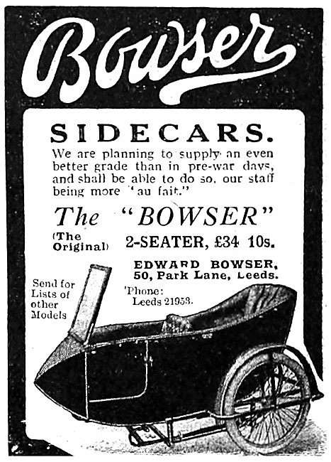 Bowser Sidecars - The Bowser 2-Seater Sidecar