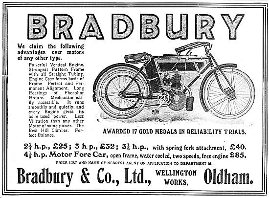 1908 Bradbury Motor Cycles