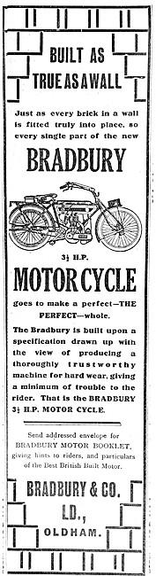 Bradbury Motor Cycles 1909