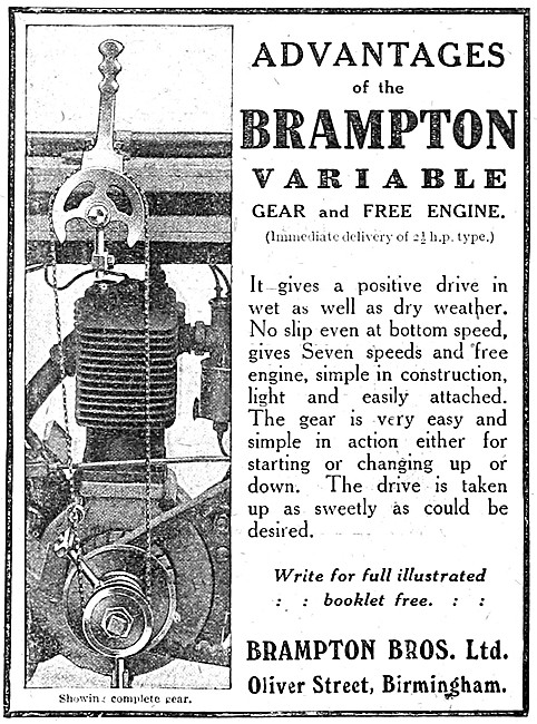 Brampton Motor Cycle Variable Gear & Free Assembly