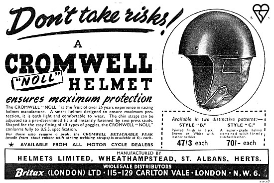 Britax  Motor Cycle Accessories - Britax Cromwell Safety Helmet