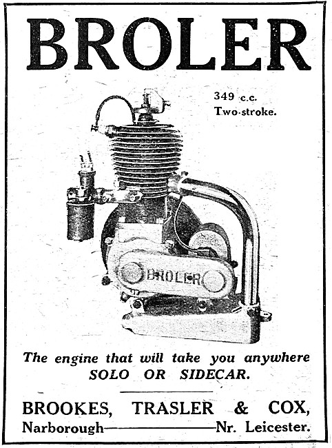Broler Motor Cycle Engines - Broler 349 cc Two-Stroke Engine