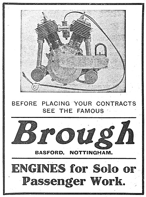 1912 Brough Motor Cycle Engines