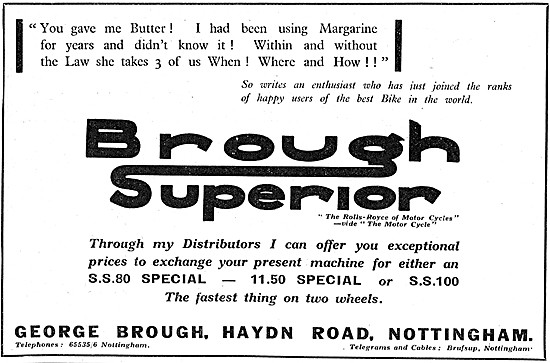 Brough Superior Motor Cycles 1939