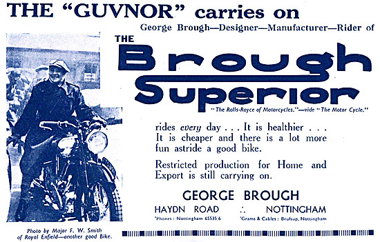 Brough Superior Motor Cycles - George Brough