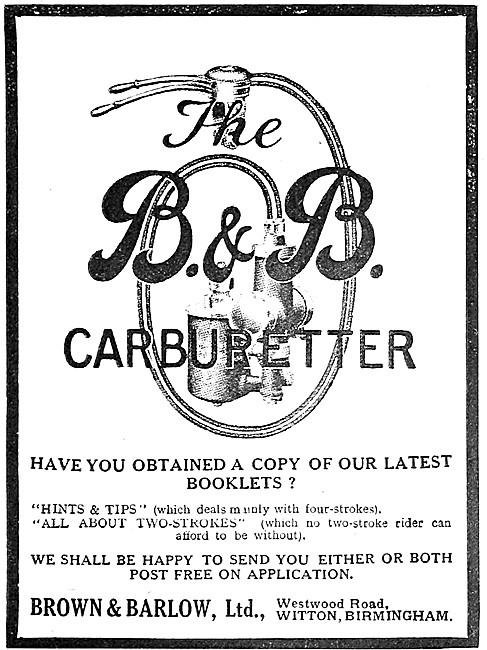 Brown & Barlow Carburetters - B.& B.Carburetters