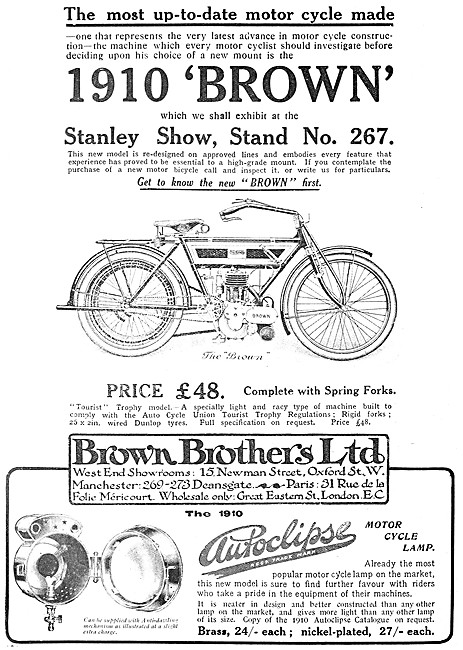 Brown Brothers The Brown Motor Cycle - The Brown Motor Cycle