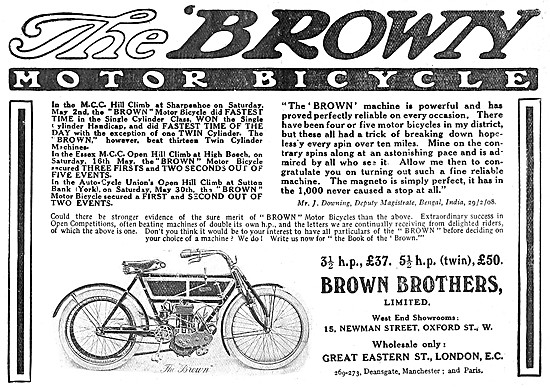1908 Brown Brothers Motor Cycles &  Accessories