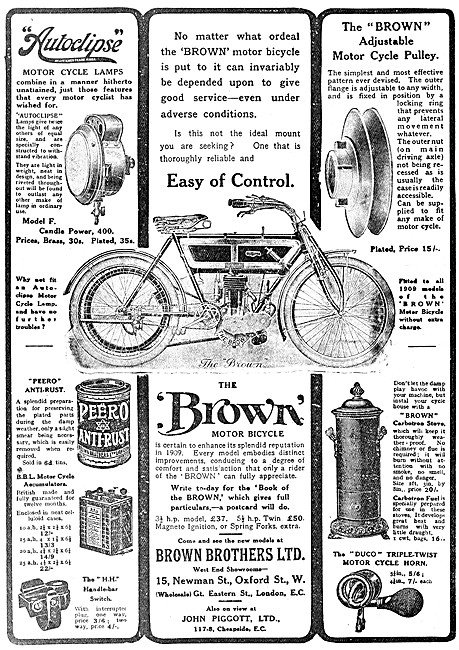 Brown Bros Motor Cycles &  Accessories - The Brown Motor Cycle