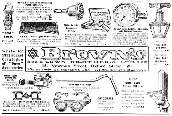 Brown Brothers Motor Cycle Accessories