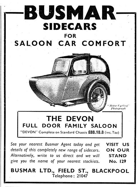 1954 Busmar Devon Sidecar