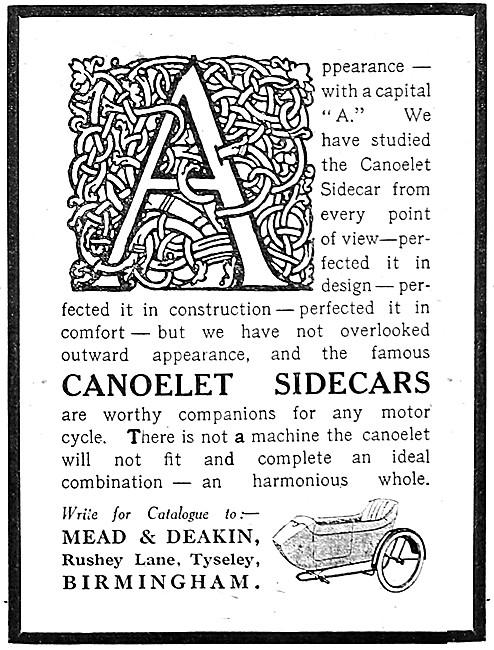 Canoelet Sidecars