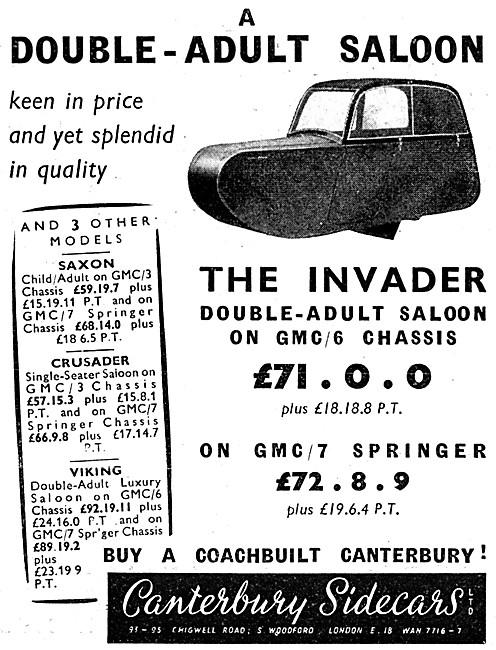 Canterbury Sidecars - Canterbury Invader DA Sidecar
