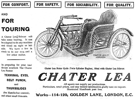 Chater Lea Motor Cycles - Chater Lea Sidecars