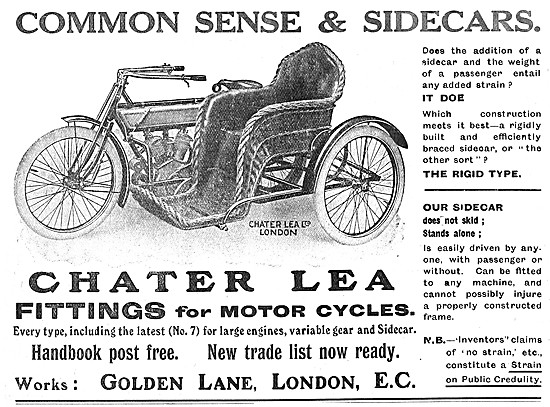 Chater Lea Motor Cycles & Sidecars