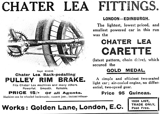 Chater Lea Back-Pedalling Pulley Motor Cycle Rim Brake