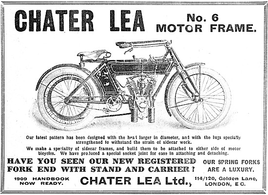 Chater Lea No 6 Motor Cycle Motor Frame