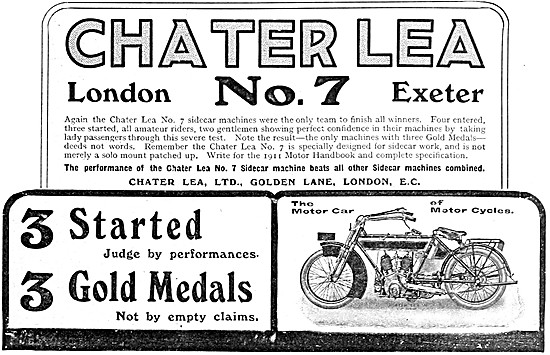 Chater Lea No 7 Motor Cycle 1911
